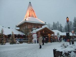 Le village du Père Noël à Rovaniemi en Laponie.